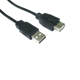 1.8m USB2.0 Type A (M) to Type A (F) Extension Cable - Black