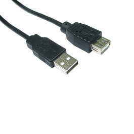 5m USB2.0 Type A (M) to Type A (F) Extension Cable - Black
