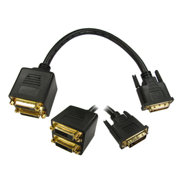 DVI-D M to 2x F Splitter Cable