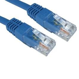 0.5m Cat6 Full Copper UTP 24awg RJ45 Ethernet Cable (Blue)