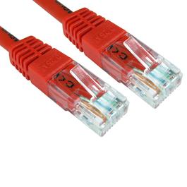0.5m Cat6 Full Copper UTP 24awg RJ45 Ethernet Cable (Red)