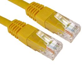 0.5m Cat6 Full Copper UTP 24awg RJ45 Ethernet Cable (Yellow)
