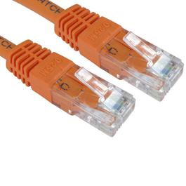7m Cat6 Full Copper UTP 24awg RJ45 Ethernet Cable (Orange)