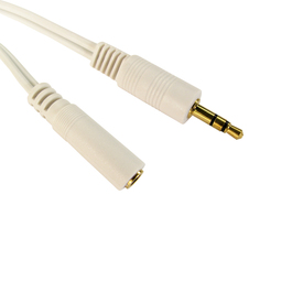 1m 3.5mm Stereo Extension Cable - White