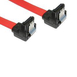 0.9m Locking SATA v2 Data Cable - Right Angled
