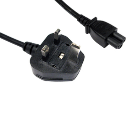 10m UK Plug to C5 Mains Lead - Black