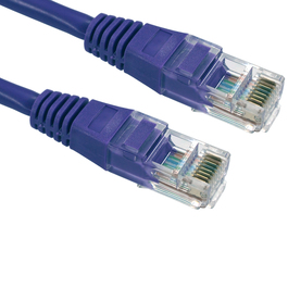 1m Cat5e Patch Cable - Violet