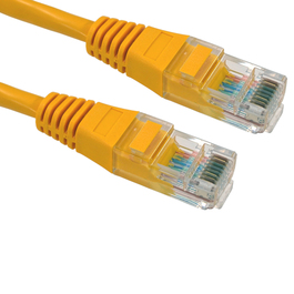 1m Cat5e Patch Cable - Yellow
