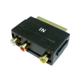 Three RCA to SCART Adapter