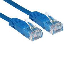1m Cat5e Flat / Low Profile Full Copper UTP RJ45 Ethernet Cable (Blue)