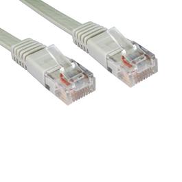 10m Cat5e Flat / Low Profile Full Copper UTP RJ45 Ethernet Cable (Grey)