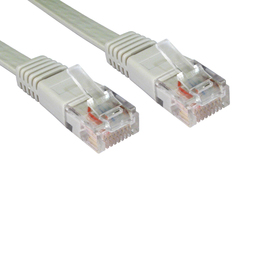 15m Cat5e Flat / Low Profile Full Copper UTP RJ45 Ethernet Cable (Grey)