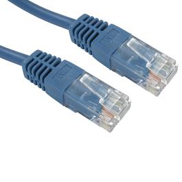 0.25m Cat5e Full Copper UTP 26awg RJ45 Ethernet Cable (Blue)
