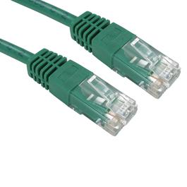 0.25m Cat5e Full Copper UTP 26awg RJ45 Ethernet Cable (Green)