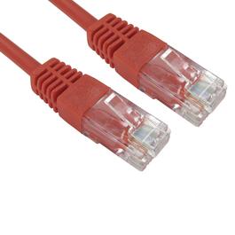 0.25m Cat5e Full Copper UTP 26awg RJ45 Ethernet Cable (Red)