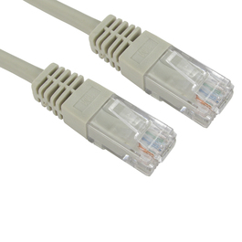 1m Cat5e Full Copper UTP 26awg RJ45 Ethernet Cable (Grey)