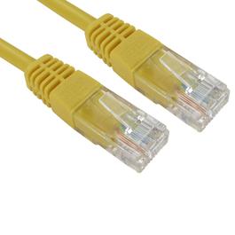 1.5m Cat5e Full Copper UTP 26awg RJ45 Ethernet Cable (Yellow)