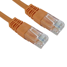 5m Cat5e Full Copper UTP 26awg RJ45 Ethernet Cable (Orange)