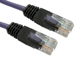 1m Cat5e Snagless Full Copper UTP 26awg RJ45 Crossover Cable (Purple)