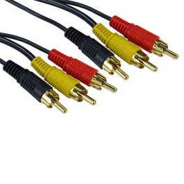 2m Three RCA Cable