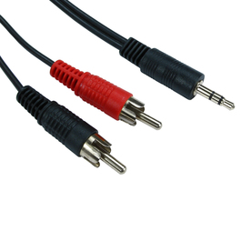 5m 3.5mm Stereo to Two RCA Cable