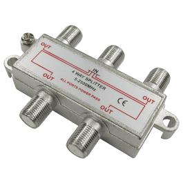4 Port F-Connector Splitter