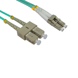 0.5m OM3 Fibre Optic Cable LC-SC