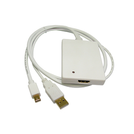 Mini DisplayPort (M) to HDMI (F) with USB Audio