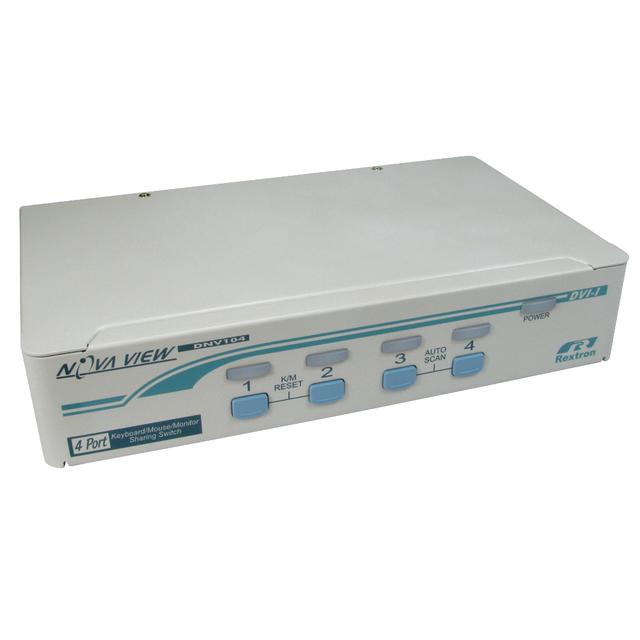 4 Port KVM Switch - DVI-D & PS/2