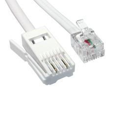 5m BT M - RJ11 M 2 WIRE X/O Modem Cable (White)