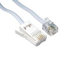 10m BT M - RJ11 M S/T Modem Cable (White)