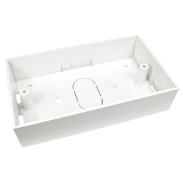 UK DUAL BACK BOX - 146mm X 86mm X 32mm B/Q 100