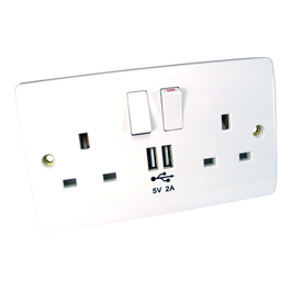 UK Power & USB Wallsocket