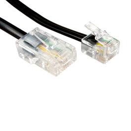 20m RJ11 to RJ45 Cable (Black)