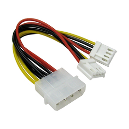 Molex to Two Floppy Drive Connector Cable