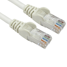 0.5m Cat6 Snagless LSOH LSZH CCA UTP 24awg RJ45 Ethernet Cable (White)