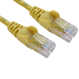 1.5m Cat5e Snagless CCA UTP 26awg RJ45 Ethernet Cable (Yellow)