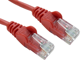 2m Cat5e Snagless CCA UTP 26awg RJ45 Ethernet Cable (Red)