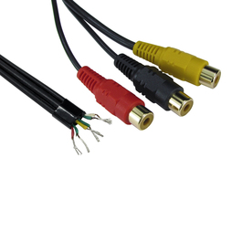 0.25m Three RCA to Free Ends Cables