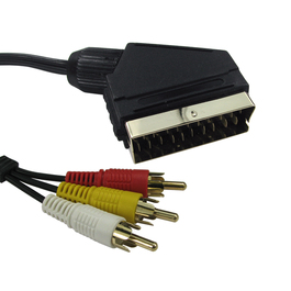 1.5m SCART to Three RCA Cable