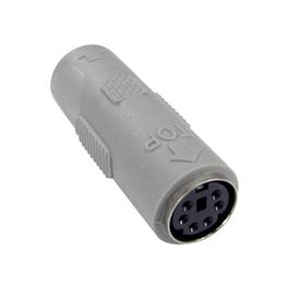 6 Pin Mini-DIN (F) to (F) Slimline Gender Changer