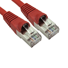 0.5m Cat6a Snagless Full Copper Shielded S/FTP LSOH RJ45 Ethernet Cable (Red)