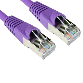 0.5m Cat6a Snagless Full Copper Shielded S/FTP LSOH RJ45 Ethernet Cable (Purple)