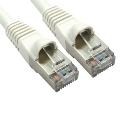 0.5m Cat6a Snagless Full Copper Shielded S/FTP LSOH RJ45 Ethernet Cable (White)