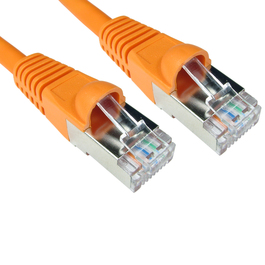 1m Cat6a Snagless Full Copper Shielded S/FTP LSOH RJ45 Ethernet Cable (Orange)