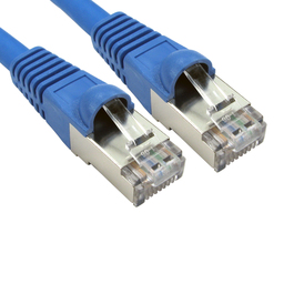 2m Cat6a Snagless Full Copper Shielded S/FTP LSOH RJ45 Ethernet Cable (Blue)
