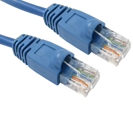 0.5m Snagless Cat5e Patch Cable - Blue