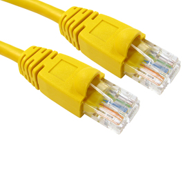 0.5m Snagless Cat5e Patch Cable - Yellow