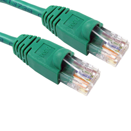 2m Snagless Cat5e Patch Cable - Green