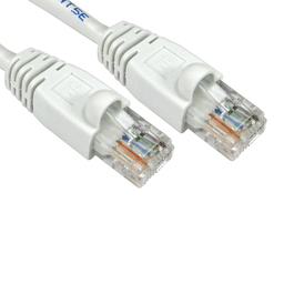 3m Snagless Cat5e Patch Cable - White